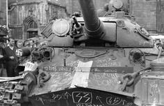 Post with 55 votes and 2062 views. Soviet tanks on the streets of Prague.