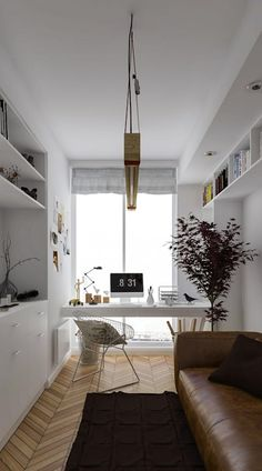 Home office design ideas – Decor Interiors & more! Home Office Setup, Guest Room Office, Home Office Space, Office Desk, Small Home Offices, Modern Office Design, Bedroom Layouts, Home And Living, House Design