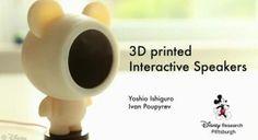 3D Printed Electrostatic speakers By Disney Research: http://3dprint.com/2846/disney-3d-printed-speakers/