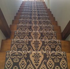Nourison Eurasia Istanbul New Zealand wool carpet fabricated into a stair runner with matching wool serging.  Purchase at Hemphill's Rugs & Carpets Orange County, CA www.RugsAndCarpets.com #nourison #stair #runner #wool