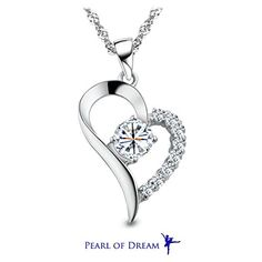 """You Are the Only One in My Heart"""" Sterling Silver Pendant Necklace"""" - CHECK IT OUT @ http://www.finejewelry4u.com/jew/101015/150720"""