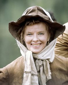 "1975 Katharine Hepburn in ""Rooster Cogburn"". Edith Head Costume Designer. photo: Silver Screen Collection. by nymag.com"