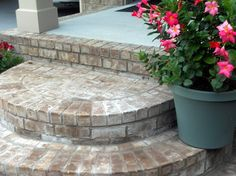 Rounded Brick Front Porch Steps - farmhouse - spaces - nashville - Front Porch Ideas and More