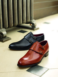 Calf leather double monk shoes. Don't mind if we do.