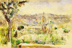 Paul Cezanne - The Cathedral of Aix Seen from the Studio of the Artist at Les Lauves