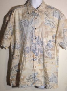 Kahala Hawaiian Islands Men's Pastel Shirt Size L #Kahala #Hawaiian