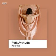 Wix color palette inspiration | Pink Attitude #d18d6c