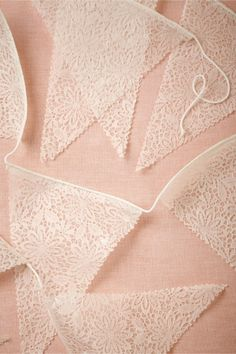 NEW- Lace Pennant Garland (3) from BHLDN