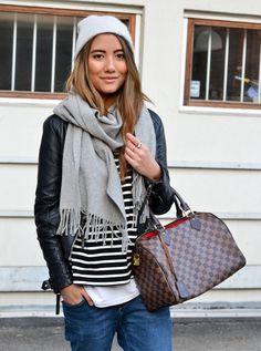 Grey accessories & stripes