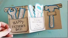 Father's Day Tool Belt Gift Card & Free Printable from AngelStreetMom