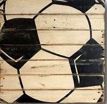 Soccer Wall Art Sports Decor Rustic Vintage Soccer Ball Sign CAD) ❤ liked on… Soccer Decor, Soccer Gifts, Sports Decor, Team Gifts, Basketball Bedroom, Basketball Wall, Soccer Locker, Boys Bedroom Decor, Bedroom Ideas