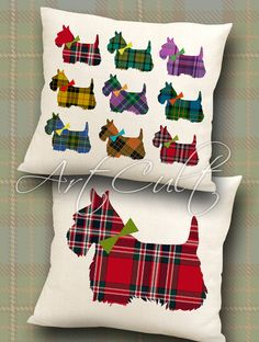 SCOTTISH TERRIER - 2 Digital Sheets Printable Images to print on fabric or paper, Iron On Transfer for totes t-shirts pillows home decor