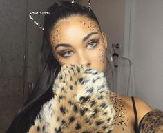 last minute leopard last night / i can't wait to show you the rest of my costumes / what are you being for halloween Cheetah Halloween Costume, Tiger Costume, Halloween Inspo, Sexy Halloween Costumes, Halloween Makeup Looks, Halloween Make Up, Leopard Halloween Makeup, Safari Costume, Family Halloween