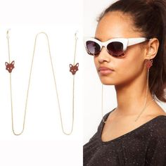 Gold-Red-Fox-Chains-Spectacles-Sunglasses-Metal-Cord-Eyeglass-Chains