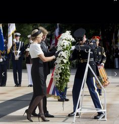 Maxima and Wilhelm at the Tomb of the Unknown Solider. Arlen from Cemetery. 1 1 June 2015.