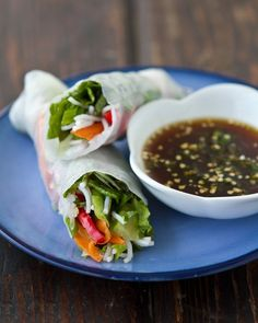 really wanting these vegetable spring rolls for dinner {via a couple cooks}.