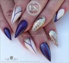 Purple, Cream & Champagne Gold... Inspired by @nailsbykatrins . Acrylic & Gel Nails