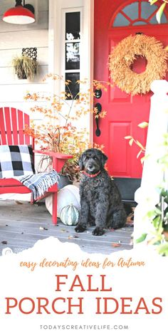 Rustic decorating ideas for Autumn. Using nature as your guide, decorating a porch is easy. Tree branches, pumpkins and gourds, a plaid blanket, and a rustic wreath, and you're done! Decorating a porch for fall can be simple and budget-friendly. Autumn Decorating, Porch Decorating, Fall Decor, Decorating Ideas, Decor Ideas, Autumn Inspiration, Daily Inspiration, Fall Doormat, Winter Porch