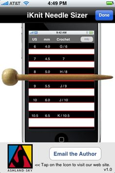 Knitting apps for Iphone