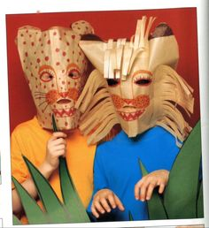 lion and tiger masks