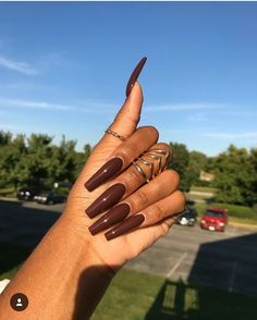 Perfect Fall Nail; Brown @adoreaxo