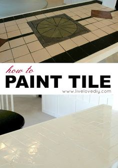 How to paint tile and other amazing ways to update your kitchen just using paint! Tons of ideas in this post!
