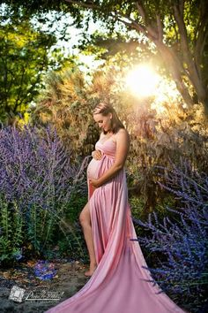 Rachel Gown • Long Flowing Gown • Sheer Chiffon Maternity Gown • Sweetheart Maternity Gown • by Sew Trendy