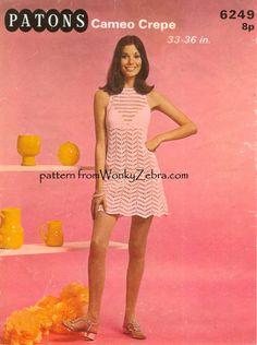 Patrón de vestido discoteca ganchillo PDF 639 de por wonkyzebra