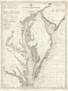 1893 U.S. Coast Survey Nautical Chart of the Chesapeake Bay  I love the idea of hanging up old, regional maps in a classroom - particularly if they're related to a time period you're studying.