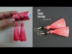 Tassel earrings | How to make silk thread Tassel earrings at home | jewelry making - YouTube