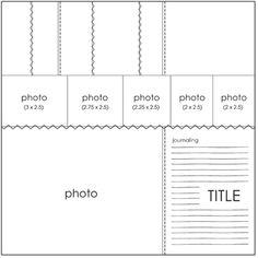 August PageMaps Sketch #2 - Scrapbook.com