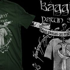 Baggins' Pawn Shop Funny Tee Shirts, T Shirt, Pop Culture, Tees, Mens Tops, Shopping, Supreme T Shirt, Tee Shirt, T Shirts