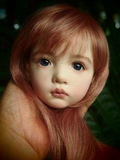丘に住むエルフの少女・・・MILAのお顔完成。の画像:ガーナベイビーズ