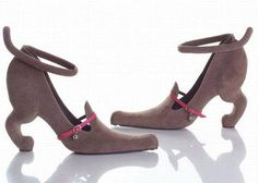 For the doggie lover in us - Puppy shoes. :-)