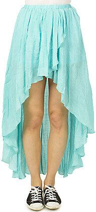 #Bluenotes                #Skirt                    #Girls #Tulip #Gauze #Skirt                         Girls Tulip Hi Lo Gauze Skirt                                                 http://www.seapai.com/product.aspx?PID=1127762