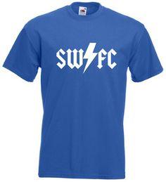 £9.99 #AC/DC Style Mens Football #T-Shirt M/L/XL/2XL/3XL/4XL/5XL #Sheffield #Wednesday - Worldwide Delivery