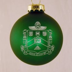 Delta Sigma Phi, ΔΣΦ, Crest Holiday Ball Ornament by McCarthey NEW #McCartney