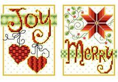 Joy Merry - cross stitch pattern designed by Ursula Michael. Category: Christmas.