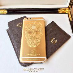Golden concept iphone