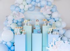Sweet Noah's arc theme 💙🐘🦒🦓 Event Styling, Birthday Parties, Mirror, Sweet, Party Ideas, Events, Collection, Instagram, Blue