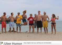 mom wanted a jumping picture. Our family conspired against it.
