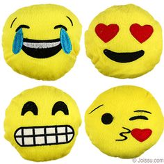 Our plush emojis come in 8 styles and in 2 sizes- 5 and 8 Inches.