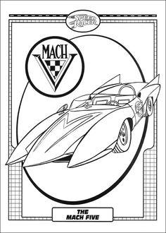 Dibujos para Colorear Speed Racer 4