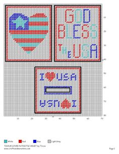 Tissue Cover Patriotic Heart by Tricia