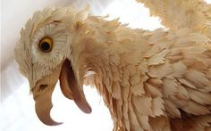 Artwork by Sergei Bobkov - Intricate Animal Sculptures Made from Wood Chips
