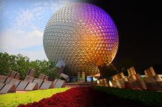 EPCOT night and day. So cool!!   @Alexandria Rossi
