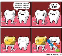 El azúcar en los dientes
