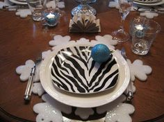 Unique tableware  | ... Unique Dinnerware Style : Zebra Print Dishes Unique Dinnerware Style Dining Ware, Zebra Print, Unique, Dishes, Cake, Tableware, Desserts, Style, Food