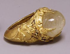 Ring with Oval-Shaped Clear Stone  Period: Central Javanese period Date: 8th–early 10th century Culture: Indonesia (Java) Medium: Gold with clear stone