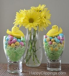 This is such an adorable idea for decorating the table for Easter Brunch - the kids will love it!